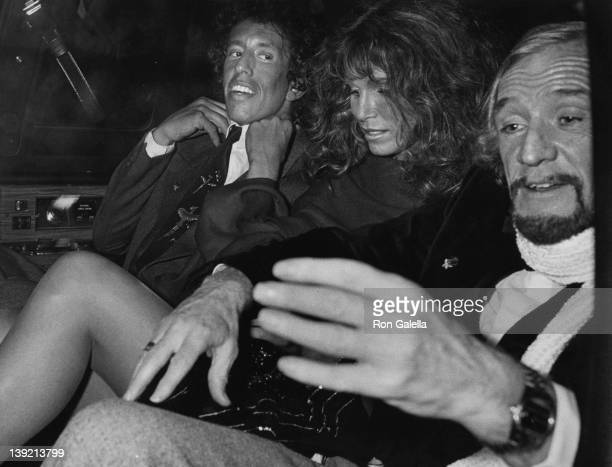 Actor Richard Harris actress Ann Turkel and music producer Richard Perry attending 'Electra Asylum Record Party for Richard Perry' on November 2 1981...