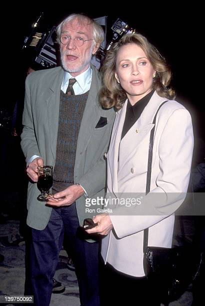 Actor Richard Harris and Actress Faye Dunaway attend the 30th Annual Publicists Guild of America Awards on March 26 1993 at Sheraton Universal Hotel...