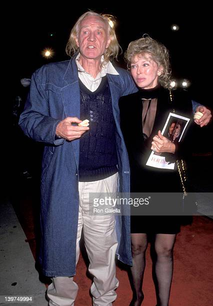 Actor Richard Harris and Dani Janssen attend the 'For the Boys' Beverly Hills Premiere on November 14 1991 at Academy Theatre in Beverly Hills...