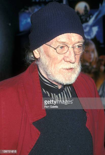 Actor Richard Harris attends the 'Harry Potter and the Sorcerer's Stone' New York City Premiere on November 1 2001 at Ziegfeld Theater in New York...
