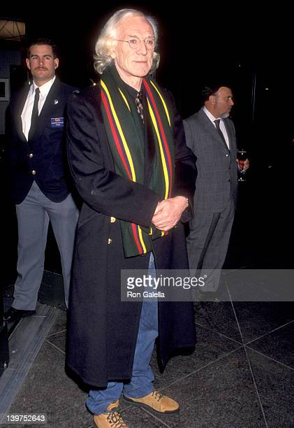Actor Richard Harris attends the 'Wrestling Ernest Hemingway' West Hollywood Premiere on December 7 1993 at DGA Theatre in West Hollywood California