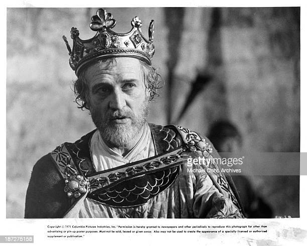 Actor Richard Harris on set of the Columbia Pictures movie 'Robin and Marian' in 1976