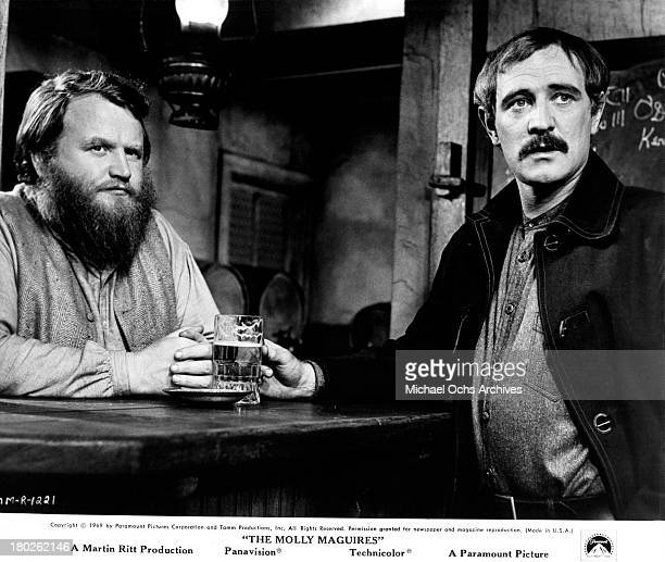 Actor Richard Harris on set of the Paramount Pictures movie 'The Molly Maguires' in 1970