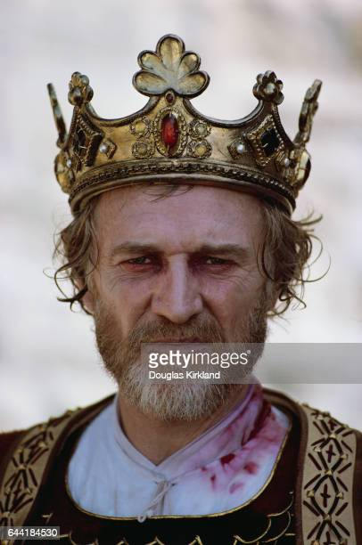 Actor Richard Harris on the set of Robin and Marian Harris who played the role of King Richard also starred with Sean Connery and Audrey Hepburn...