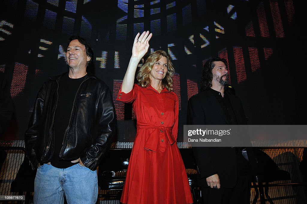 actor richard hatch actress kate vernon and executive producer ronald d moore at experience music - Executive Producer Music