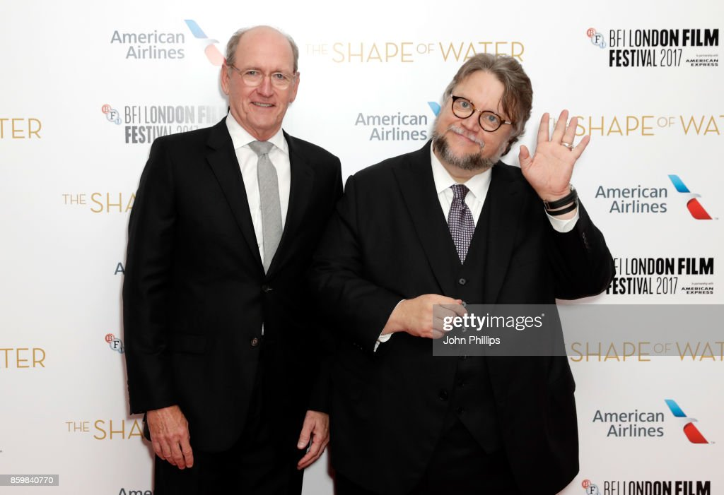 Actor Richard Jenkins and director Guillermo del Toro attend the American Airlines Gala and UK Premiere of 'The Shape Of Water' during the 61st BFI London Film Festival on October 10, 2017 in London, England.