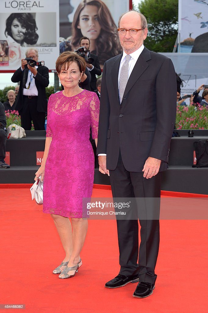 Actor Richard Jenkins and his wife Sharon R. Friedrick attend the 'Olive Kitteridge Parts 1-2' premiere during the 71st Venice Film Festival at Sala Grande on September 1, 2014 in Venice, Italy.