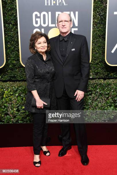 Actor Richard Jenkins and Sharon Jenkins attend The 75th Annual Golden Globe Awards at The Beverly Hilton Hotel on January 7 2018 in Beverly Hills...