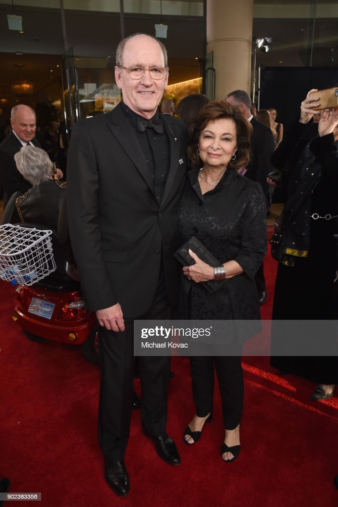Actor Richard Jenkins (L) and Sharon R. Friedrickcelebrates The 75th Annual Golden Globe Awards with Moet & Chandon at The Beverly Hilton Hotel on January 7, 2018 in Beverly Hills, California.