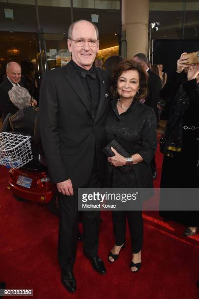 Actor Richard Jenkins and Sharon R Friedrickcelebrates The 75th Annual Golden Globe Awards with Moet Chandon at The Beverly Hilton Hotel on January 7...