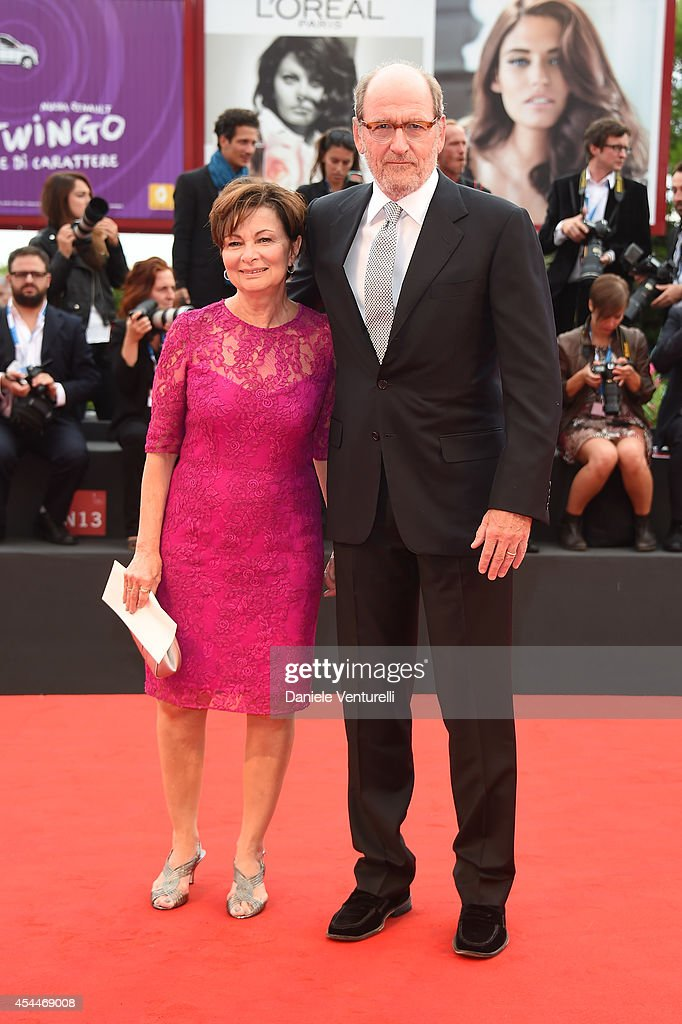 Actor Richard Jenkins (R) and wife Sharon R. Friedrick attend the 'Olive Kitteridge Parts 1-2' premiere during the 71st Venice Film Festival at Sala Grande on September 1, 2014 in Venice, Italy.