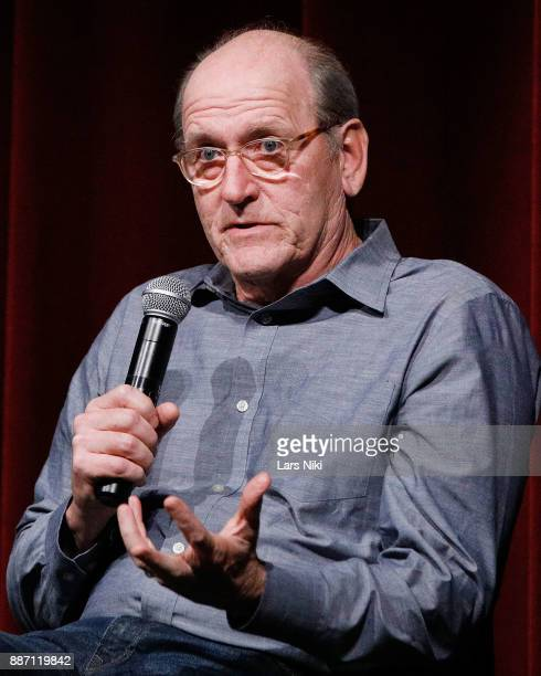 Actor Richard Jenkins on stage during The Academy of Motion Picture Arts Sciences Official Academy Screening of The Shape of Water at MOMA on...
