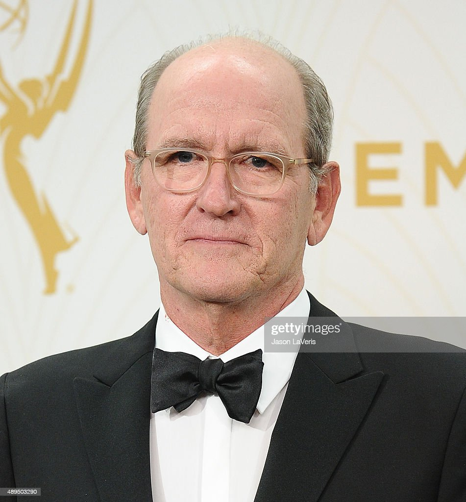 Actor Richard Jenkins poses in the press room at the 67th annual Primetime Emmy Awards at Microsoft Theater on September 20, 2015 in Los Angeles, California.
