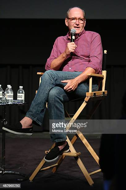 Actor Richard Jenkins speaks at the SAG Foundation's Backstage Emmy Series featuring Richard Jenkins of 'Olive Kitteridge' at NYIT Auditorium on...