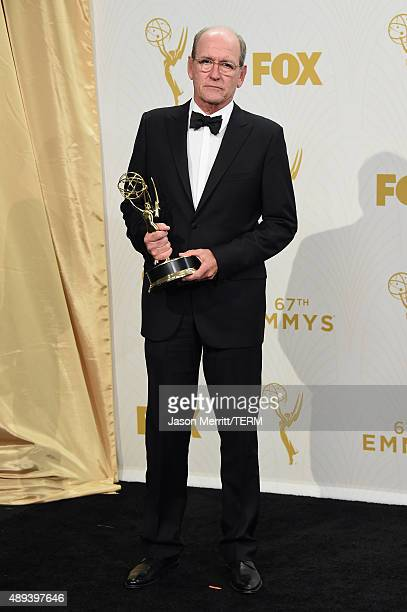 Actor Richard Jenkins winner of Outstanding Lead Actor in a Limited Series or Movie for Olive Kitteridge poses in the press room at the 67th Annual...