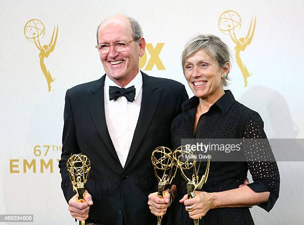 Actor Richard Jenkins winner of the award for Outstanding Lead Actor in a Limited Series or Movie for 'Olive Kitteridge' and actress Frances...