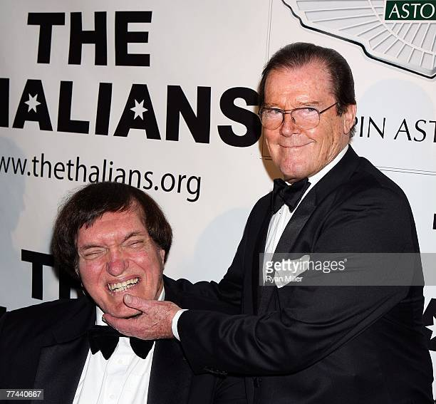 Actor Richard Kiel and Honoree Sir Roger Moore arrive at the Thalians 52nd Anniversary Gala honoring Sir Roger Moore to raise funds for the Thalians...