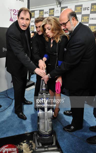 Actor Richard Kind actor Michael Stuhlbarg actress Sari Lennick and actor Fred Melamed with the LG Electronics Kompressor Vacuum on The 25th Spirit...