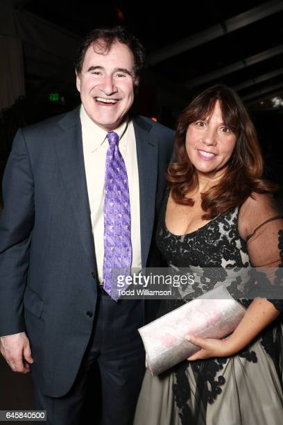 Actor Richard Kind and Dana Stanley attend the Amazon Studios Oscar Celebration at Delilah on February 26 2017 in West Hollywood California