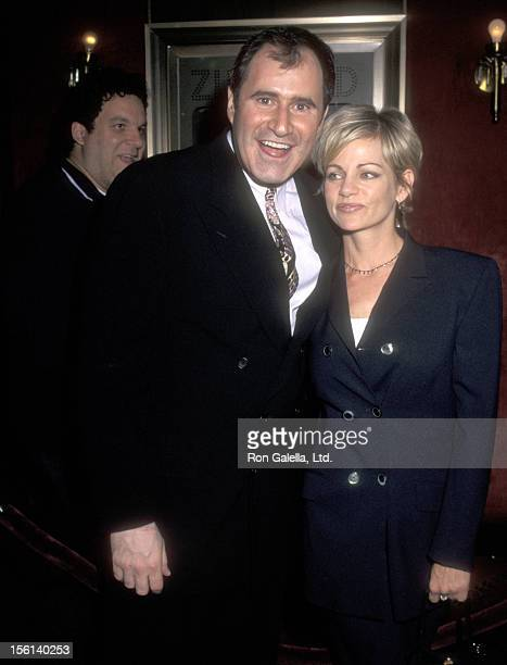 Actor Richard Kind and guest Dana Stanley attend 'The Peacemaker' New York City Premiere on September 22 1997 at Ziegfeld Theater in New York City