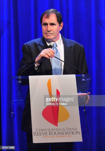 Actor Richard Kind speaks onstage at the Christopher Dana Reeve Foundation 19th Annual 'A Magical Evening' Gala at the Marriott Marquis on November 9...
