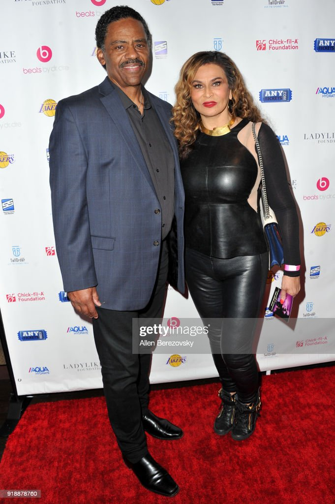 Actor Richard Lawson (L) and Tina Knowles Lawson attend the NBA All-Star Bowling Classic at Lucky Strike LA Live on February 15, 2018 in Los Angeles, California.