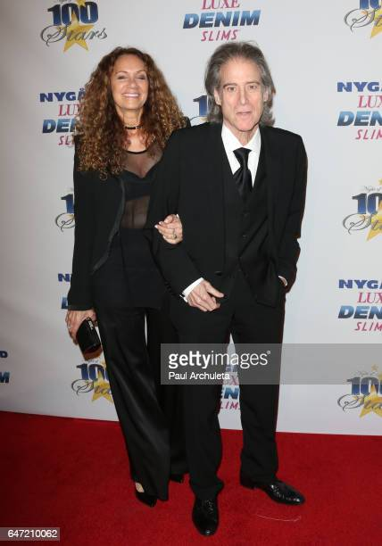 Actor Richard Lewis and his Wife Joyce Lapinsky attend the 27th annual 'Night Of 100 Stars' black tie dinner and viewing gala at The Beverly Hilton...