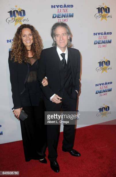 Actor Richard Lewis and Joyce Lapinsky arrive for the Norby Walters' 27th Annual Night Of 100 Stars Black Tie Dinner Viewing Gala held at The Beverly...