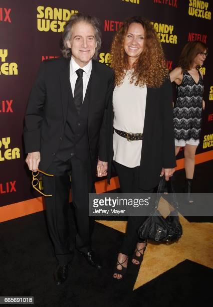 Actor Richard Lewis and Joyce Lapinsky attend the premiere of Netflix's 'Sandy Wexler' at the ArcLight Cinemas Cinerama Dome on April 6 2017 in...