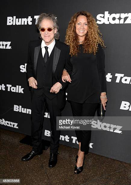 Actor Richard Lewis and Joyce Lapinsky attend the STARZ' Blunt Talk series premiere on August 10 2015 in Los Angeles California