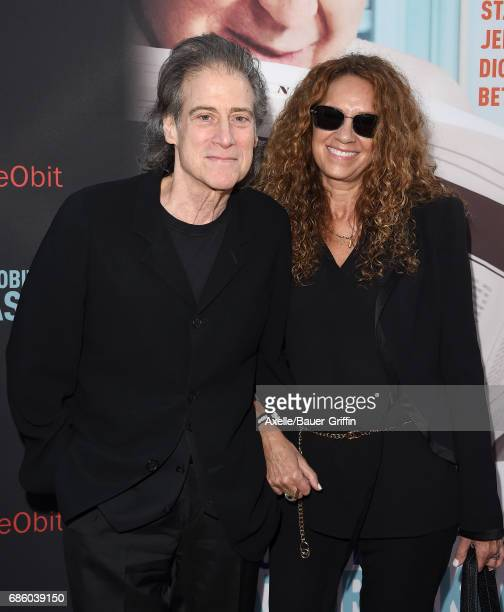 Actor Richard Lewis and wife Joyce Lapinsky arrive at the premiere of HBO's 'If You're Not In The Obit Eat Breakfast' at Samuel Goldwyn Theater on...