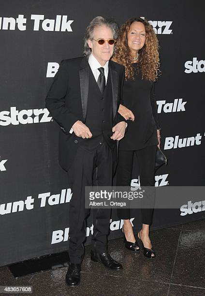 Actor Richard Lewis and wife Joyce Lapinsky arrive for the Premiere Of STARZ Blunt Talk held at DGA Theater on August 10 2015 in Los Angeles...