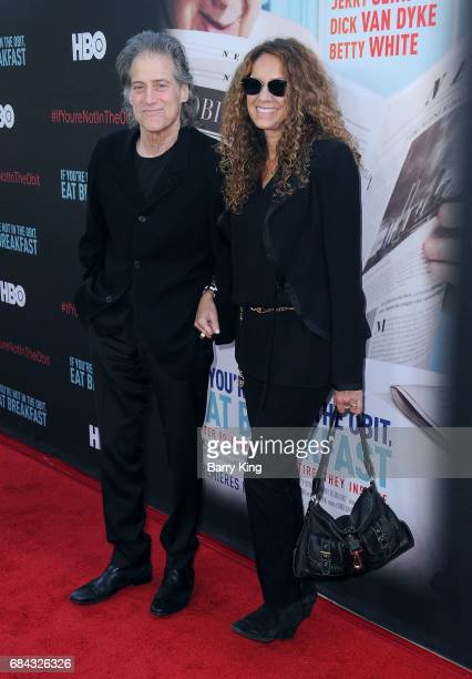 Actor Richard Lewis and wife Joyce Lapinsky attend premiere of HBO's 'If You're Not In The Obit Eat Breakfast' at Samuel Goldwyn Theater on May 17...