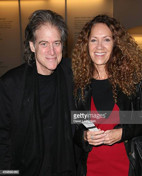 Actor Richard Lewis and wife Joyce Lapinsky attend the Center Theatre Group's opening night of Luna Gale at the Kirk Douglas Theatre on December 2...