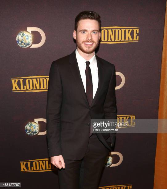 Actor Richard Madden attends the 'Klondike' series premiere at Best Buy Theater on January 16 2014 in New York City