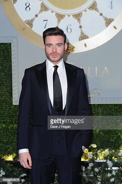Actor Richard Madden attends the UK Premiere of 'Cinderella' at Odeon Leicester Square on March 19 2015 in London England