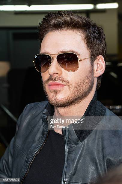 Actor Richard Madden leaves the ABC Lincoln Center Studios on March 9 2015 in New York City