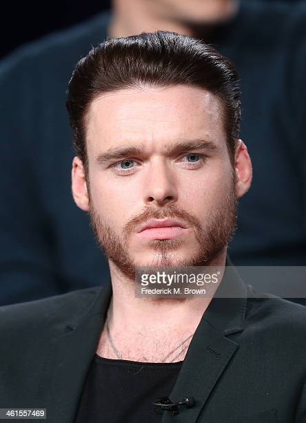 Actor Richard Madden speaks onstage during the 'Discovery Channel Klondike' panel discussion at the Discovery Communications portion of the 2014...