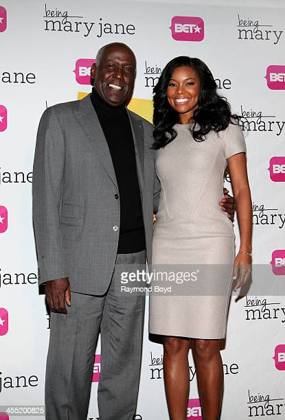 Actor Richard Roundtree and actress Gabrielle Union, poses for photos during a luncheon and exclusive advanced screening in celebration of their BET...