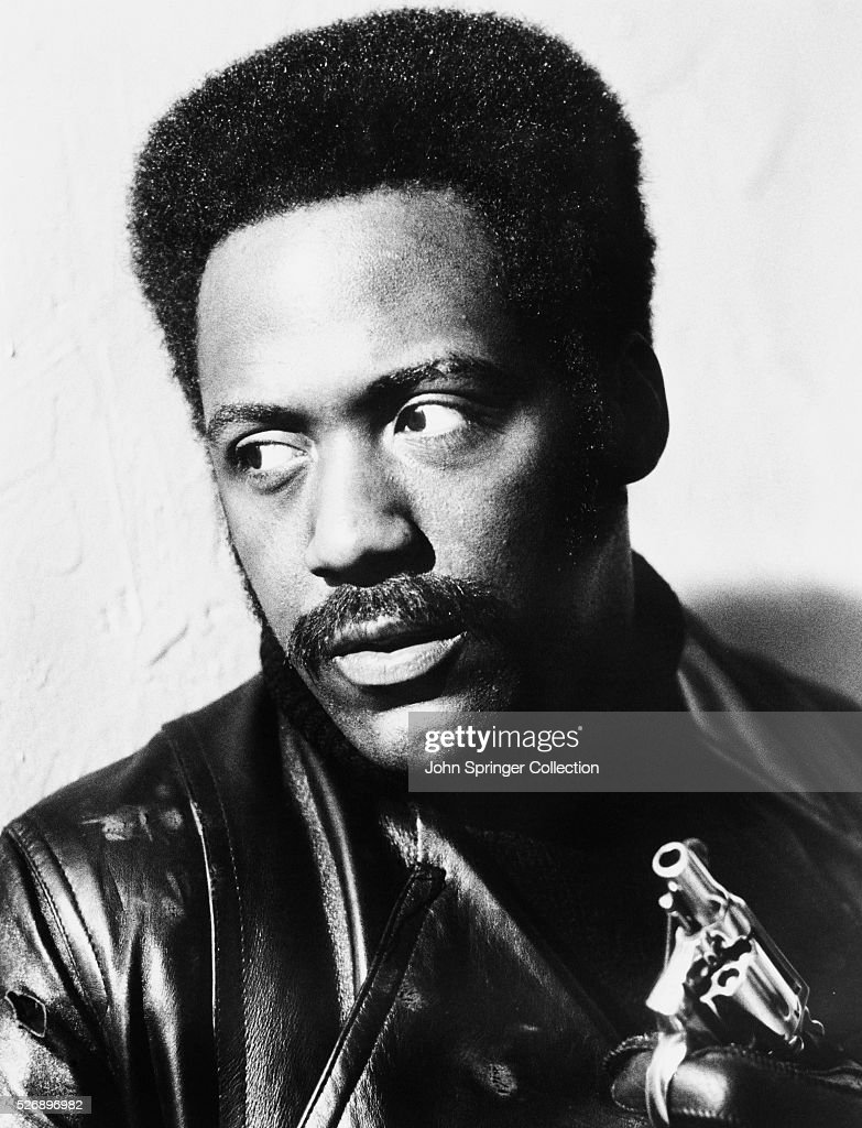 Actor Richard Roundtree as private investigator Shaft in the 1971 film Shaft.