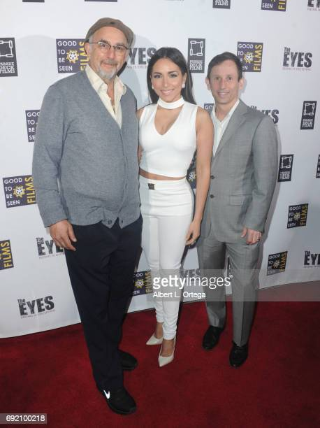 Actor Richard Schiff actress Ana Isabelle and director Robbie Bryan arrive for the Premiere Of Parade Deck Films' 'The Eyes' held at Arena Cinelounge...