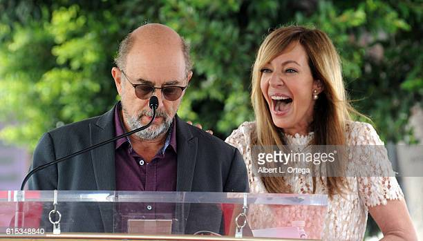 Actor Richard Schiff and actress Allison Janney at the Star ceremony held On The Hollywood Walk Of Fame on October 17 2016 in Hollywood California