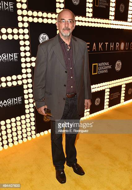 Actor Richard Schiff attends National Geographic Channel's 'Breakthrough' world premiere event at The Pacific Design Center on October 26 2015 in...