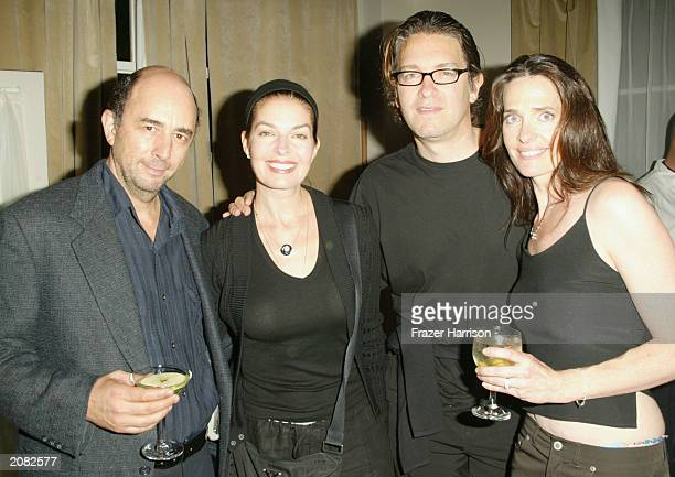 Actor Richard Schiff with Actress Sela Ward Howard Sherman and Actress Sheila Kelley at the opening party for Sheila Kelley's Factor Studio at The...