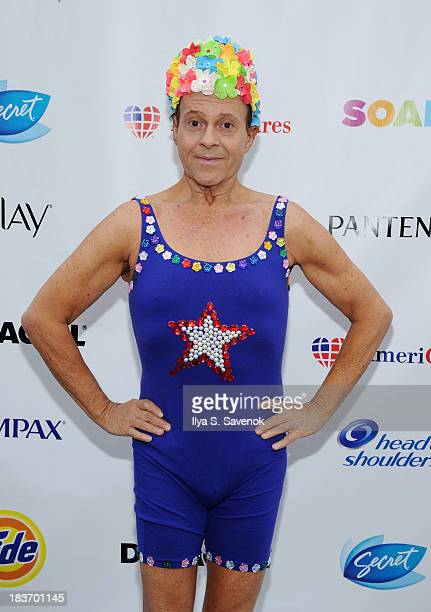Actor Richard Simmons attends Swim for Relief Benefiting Hurricane Sandy Recovery Day 2 at Herald Square on October 9 2013 in New York City