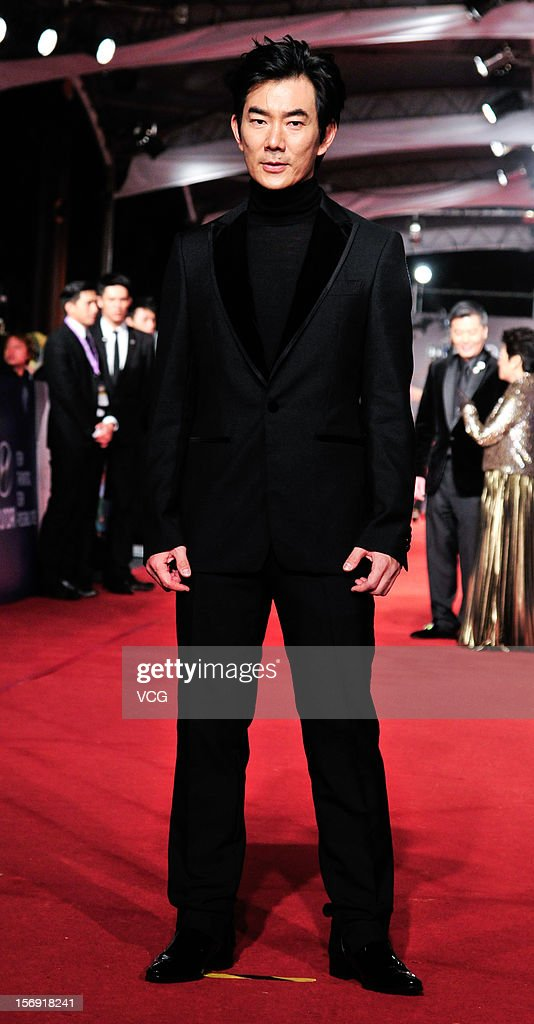 Actor Richie Jen arrives at the red carpet of the 49th Golden Horse Awards at the Luodong Cultural Working House on November 24, 2012 in Ilan, Taiwan.