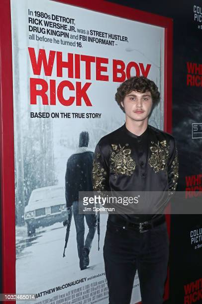 Actor Richie Merritt attends the New York special screening of White Boy Rick hosted by Columbia Pictures and Studio 8 at the Paris Theater on...