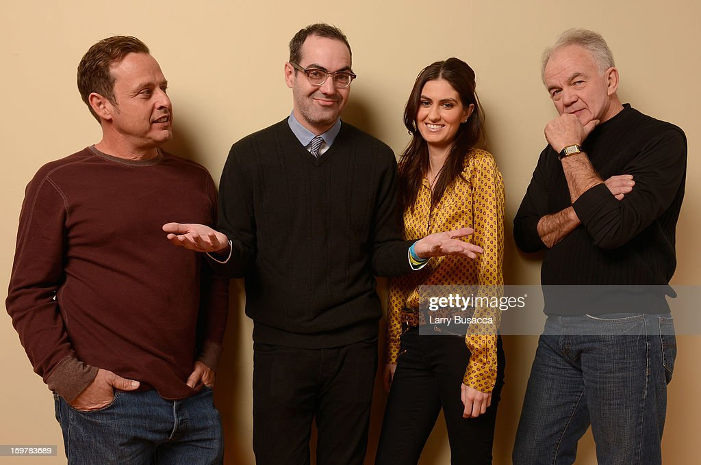 Actor Richmond Arquette, writer/director Chad Hartigan and actors Sam Buchanan and Paul Eenhoorn pose for a portrait during the 2013 Sundance Film Festival at the Getty Images Portrait Studio at Village at the Lift on January 20, 2013 in Park City, Utah.