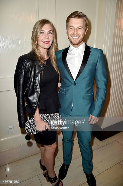 Actor Rick Cosnett and Michelle Cosnett attend TheWrap's 2nd annual Emmy party at The London Hotel on June 11 2015 in West Hollywood California