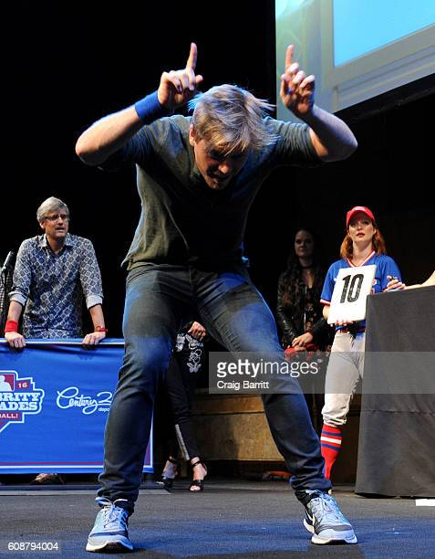 Actor Rick Cosnett performs onstage at the Labyrinth Theater Company's Celebrity Charades Gala 2016 at Capitale on September 19 2016 in New York City